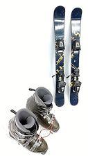 SNOWBLADE PACKAGE, New 99cm Snow Jam Ski Blades, Used Ski Bindings, boots