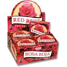 Hem Red Rose Incense Cones, Bulk Lot 3 Pack of 10 Cones = 30 Total Always Fresh