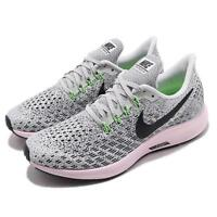 Nike Wmns Air Zoom Pegasus 35 Vast Grey Black Pink Women Running Shoe 942855-011