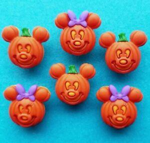 PUMPKINS Mickey and Minnie Mouse Halloween Disney Children Dress It Up Buttons