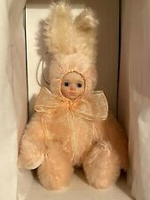 "Marie Osmond Bit-O-Bunny ""Just Peachy"" 5"" Mohair/Velveteen Rabbit/Bunny, Mib"