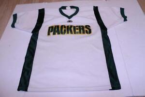 Men's Green Bay Packers L Vintage Jersey (White) Majestic Jersey