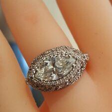 Platinum 1.72-carat Center Marquise Tacori Diamond Ring!