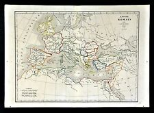 1830 Langlois Atlas Map - Roman Empire Constantine Dioceses Italy Europe