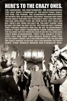 Heres To The Crazy Ones College Funny Poster 24x36 inch