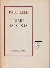 1960 – PAUL KLEE, DIARI 1898-1918 – ARTE PITTURA MEMORIE PRIMA EDIZIONE ITALIANA