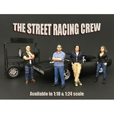 1/18 scale - Street Racing Crew - Set of 4 -  AMERICAN DIORAMA - figure/figurine