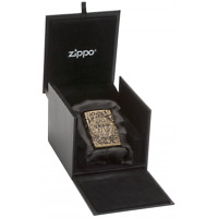 ZIPPO LIGHTER St.BENEDICT MEDAL ARMOR ANTIQUE BRASS-no.60003593 LIMITED EDITION