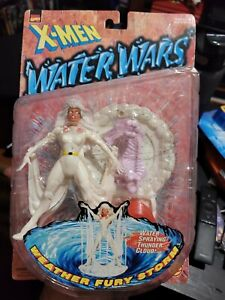 "1997 TOYBIZ MARVEL X-MEN WATER WARS FURY STORM 5"" ACTION FIGURE MOC MUTANT"
