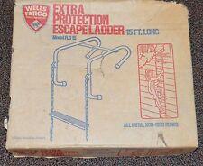 Vintage Wells Fargo 2 Story 15' Emergency Fire Escape Ladder Fld15