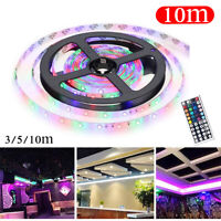 3/5/10M 3528 SMD RGB 600 LED String Light Strip + 44 Key IR Remote Controller