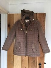 Michael Kors Ladies Womans Coat Jacket Small S Truffle Brown