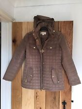 NEW Michael Kors MK Ladies Womans Coat Jacket Small S Truffle Brown quilted
