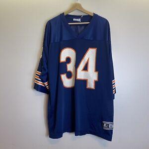 Vintage Starter Chicago Bears Walter Payton #34 Blue Short Sleeve Jersey Sz XL