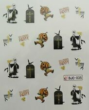 Accessoire ongles : nail art- Stickers Halloween : tombe, citrouille , fantome