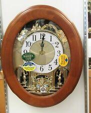 """""""JOYFUL NOSTALGIA"""" Musical Motion Wall Clock by Rhythm 4MH411WU06"""