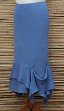 *ZUZA BART*DESIGN BEAUTIFUL LAYERING QUIRKY PURE LINEN SKIRT*BLUE*Size  S-M- L