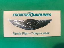 "Vintage Frontier Airlines Future Pilot Silver Tone Badge Sticker 5/8"" x 2 1/4"""