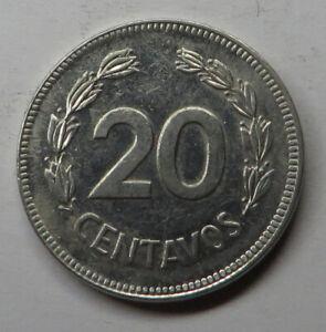 Ecuador 20 Centavos 1981 Nickel Plated Steel KM#77.2a UNC
