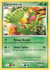Carnivine Common Pokemon Card Pt1 Platinum 68/127