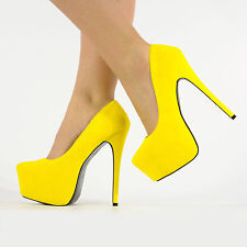NEW WOMENS HIGH STILETTO HEEL PARTY PLATFORM PUMP SHOES SUEDE GLITTER LEATHER
