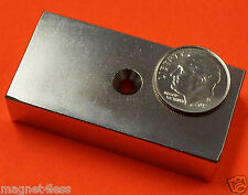 "(24) Rare Earth Neodymium Magnets 2""x1""x1/2"" , #8 Dual Sided Countersunk Hole N42"