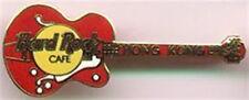 Hard Rock Cafe HONG KONG 1990s Red Gibson Byrdland GUITAR PIN