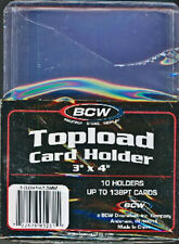 10 BCW Thick Card Trading Card Sports Card Top Loaders