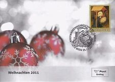 Austria Christmas 2011 Art Painting Festival Celebration (stamp FDC)