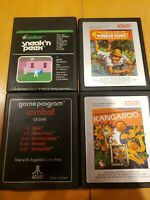 Atari 2600 Game Lot- Kangaroo Jungle Hunt Sneak N Peek. 4 Games, Tested Working!