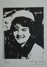 Limited POP ART edition silkscreen serigraph, Jackie, signed Andy Warhol w DOCS
