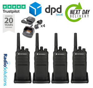 Motorola XT420 QUAD PACK PMR446 Walkie Talkie Two Way Radio With Single Chargers
