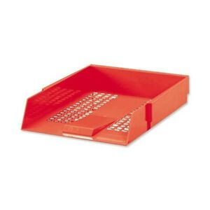 5 Star Letter Tray High-impact Polystyrene Foolscap (Red) x 5