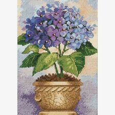 Dimensions Gold Collection Petites Counted Cross Stitch Kit Hydrangea In Bloom