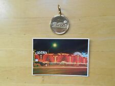 Vegas Sands Key Fob Castaways Photo Postcard Nevada Vintage Early Hotel Casino