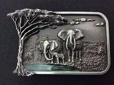 New Elephants Belt Buckle