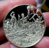Silver Medal, 1918 Armistice Brings Peace WWI, 1.05 Troy Oz. Sterling