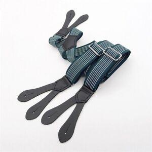 Suspender Straps Fashion Men Tide Trousers Elastic Buttons Harness Braces Casual