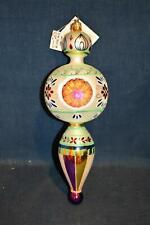 "Christopher Radko Glass Ornament Blue Danube RETIRED 12"" Orig Tags"