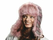 Ladies Women Tracey Check Trapper Hat