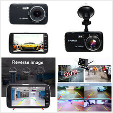 4 inch Full HD 1080P Car Auto Front and Rear Camera DVR Video Recorder Dash Cam