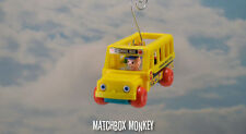 Classic Fischer Price Little People School Bus Mini Custom Christmas Ornament