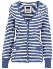 L 'argentina señora chaqueta de punto Cardigan tamaño m 38 algodón & elastano azul Nuevo