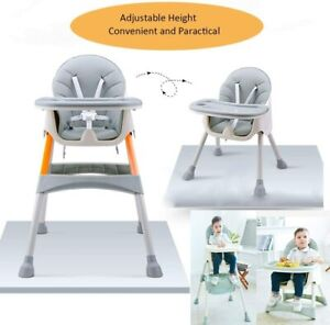 Baby Highchair Adjustable 2-1  Infant High Feeding Seat Toddler Table Chair UK