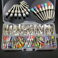200 PCS Dental Nylon Latch Flat Polishing Polisher Prophy White & Colorful Brush