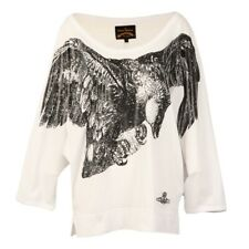 Vivienne Westwood Anglomania Womens White Eagle Batwing T Shirt - Size L