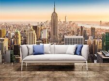 Nyc Wall Mural New York skyline on a sunny after Photo Wall Mural Background