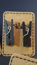 Pendientes de bisutería color principal negro de madera