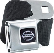Nissan Logo Licensed Seat Belt Design - Belt Buckle Combo for Pants