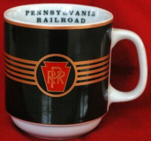 Michael Leson The American Rails PENNSYLVANIA RAILROAD mug/cup
